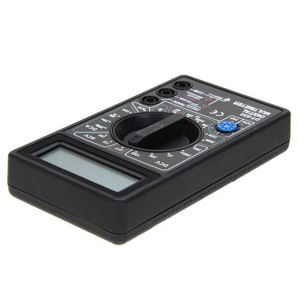 DT832 Dijital Multimetre Tester LCD Mini Multimetre AC DC Voltmetre Ampermetre Ohm Metre Otomatik Polarite Ekran