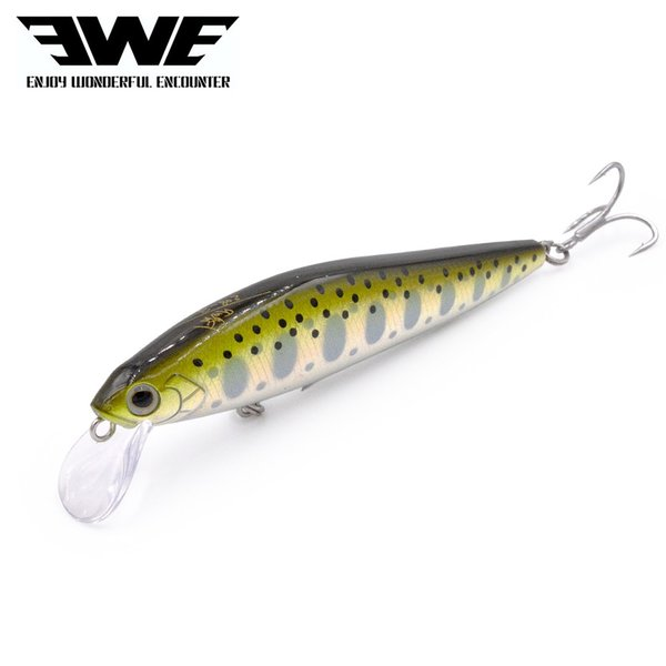 EWE Branded S80 trout lure 80mm/10g jerkbait slow sinking minnow artificial bait for trout bass fishing