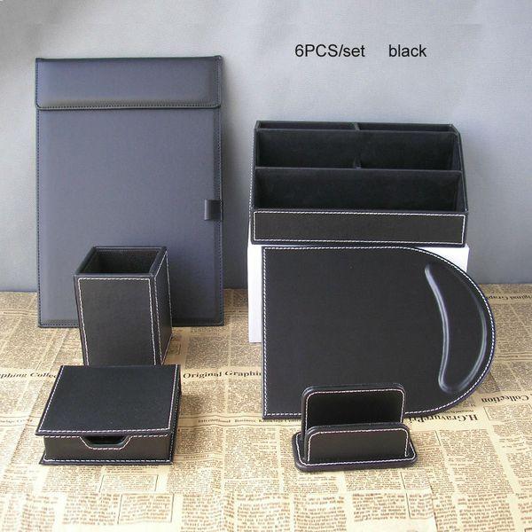 6PCS/set office desk stationery organizer pen holder pencil case file folder a4 card stand note case desktop organizer K260