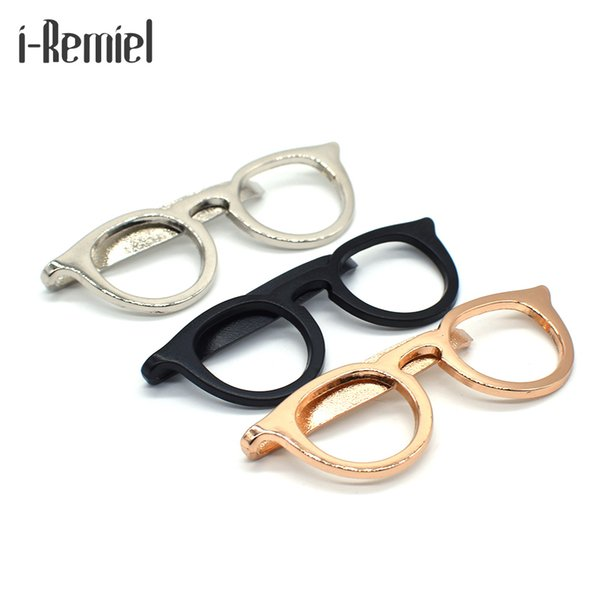 2017 Top Fashion Real Zinc Alloy Brooch Trendy Brooches For Pin Broche 's Shirt Suit Tie Clip Simple Business Dress Up Glasses