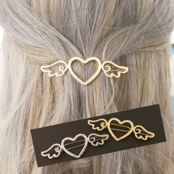 Easy Matched Heart Shape Angel wings Hairpin Hair Clips Side Clip Barrettes for girls free shipping