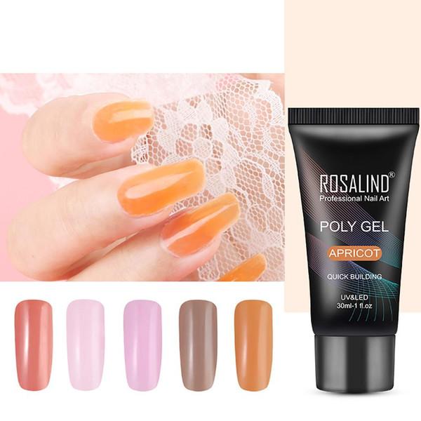 30ml Professional Nail Art Polish UV LED Poly Gel Quick Building Women Makeup New