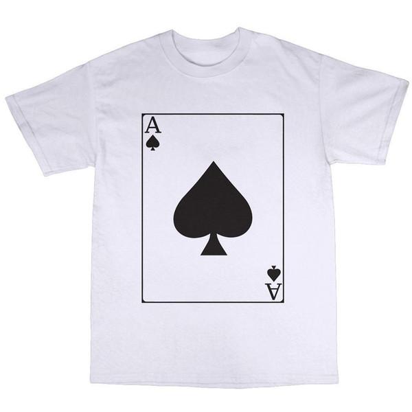 Ace Of Spades T-Shirt 100% Cotton Lemmy Poker Playing Cards Hawkwind Men T shirt Short Sleeve Print Casua Print T Shirt For Men 2018