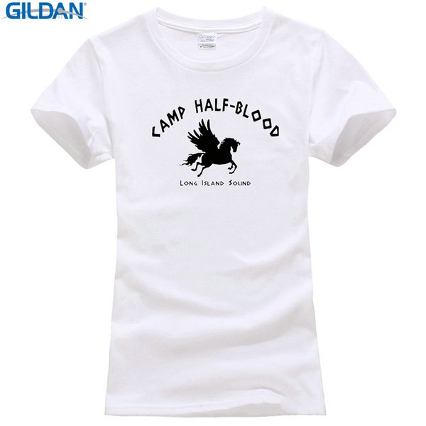 High Quality T Shirt Short Camp Half Blood Long Island Sound Greek Gods Mythology New Crew Neck Summer Tee Shirt For Women