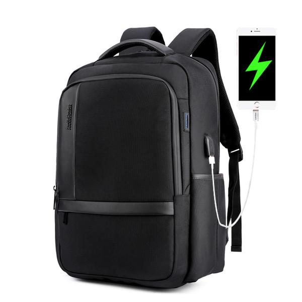 Zaino da uomo antifurto impermeabile 15.6 Zaino per laptop Zaino da scuola in nylon casual da uomo con ricarica USB Zaino da viaggio con tracolla