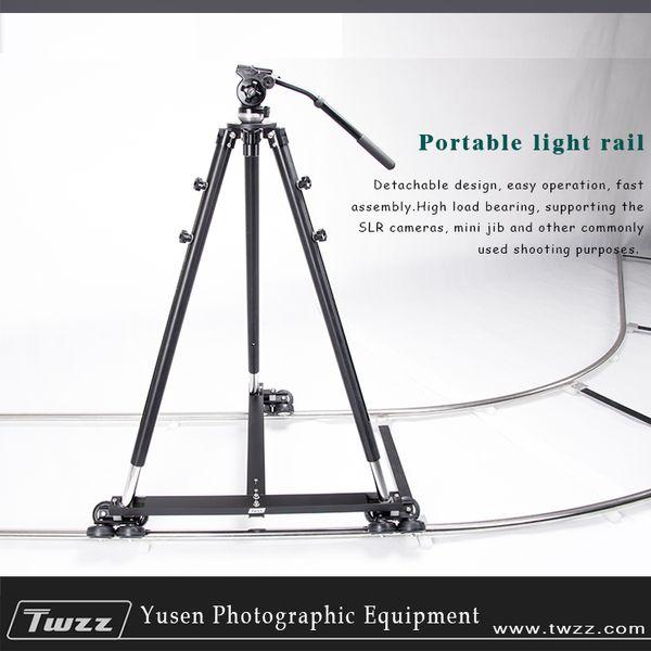 Voie de chariot de rail d'appareil-photo de METRIX 6m avec la glissière visuelle de Dolly de forme de T pour la photographie de film DSLR