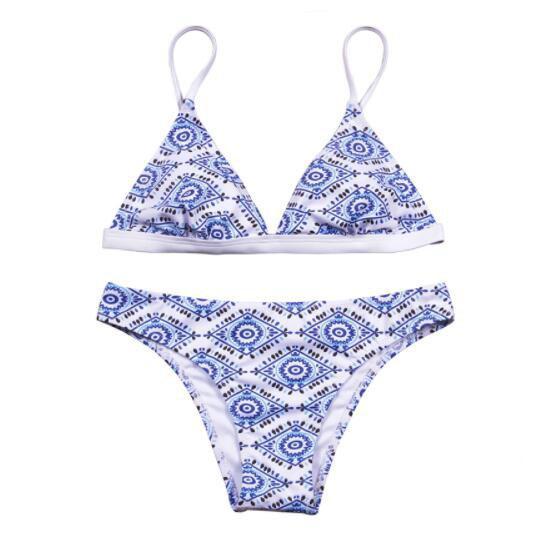 2018 Sexy Bikini Women Swimsuit Push Up Swimwear Female Bandeau Bikini Set Printed Beach Bathing Suit Biquini