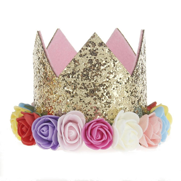 1 PC Birthday Party Girls Headband Flower Crown Headwear Kids Party Gift Decoration Hair Band Accessories