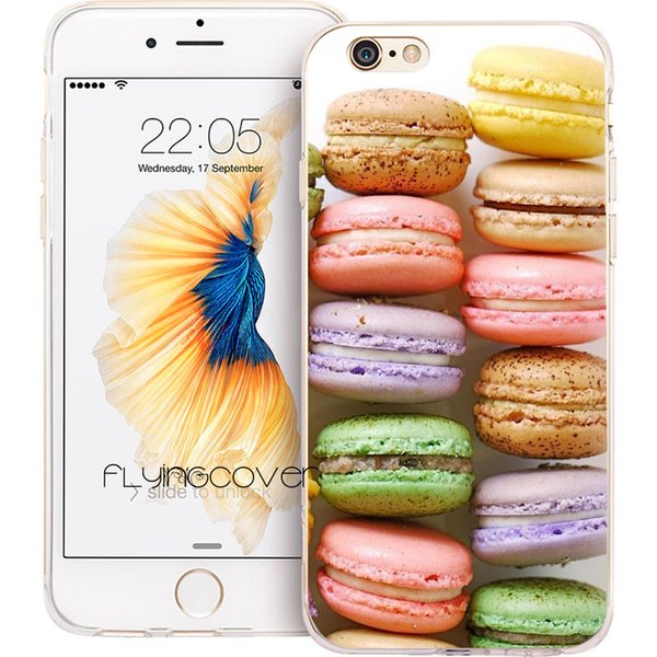 Coque Rainbow Macarons Cakes Clear Soft TPU Silicone Phone Cover for iPhone X 7 8 Plus 5S 5 SE 6 6S Plus 5C 4S 4 iPod Touch 6 5 Cases.