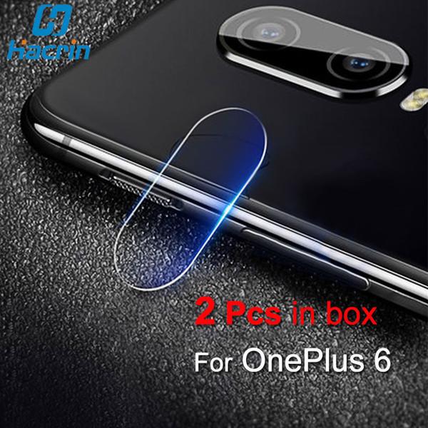 2 Pcs Para OnePlus 6 Lente Da Câmera de Vidro Temperado Para OnePlus 6 Câmera Traseira Protetor de Tela de Vidro Filme Um Mais Seis