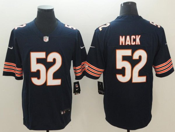 quality design b92e1 704b5 2018 Men 52 Chicago Bears Khalil Mack Jerseys 2018 New Embroidery Logos  From Szdan, $16.09 | Dhgate.Com