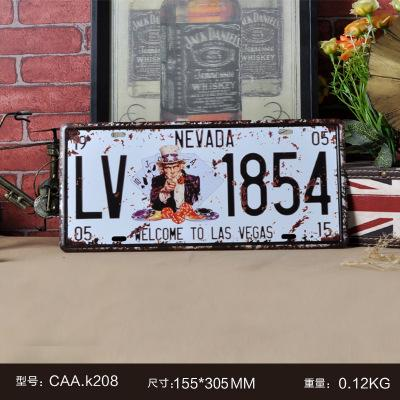 New arrival Vintage license plate Wall art craft metal painting vintage Iron for bar home decor 15X30CM Wall Sticker tin sign