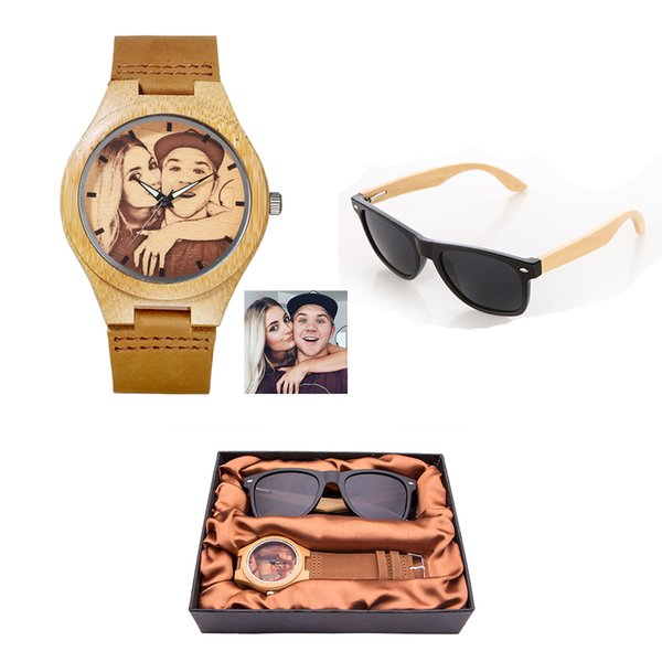 Personality Creative Design Customized Logo Wooden Wrist Watch Print Photo Special OEM Couple Watches For Men Women Unique Gift S914