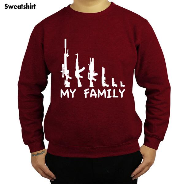 new arrived My Family Gun printed euro size autumn spring tops shubuzhi men sweatshirt fashion brand hoody cotton hoodies