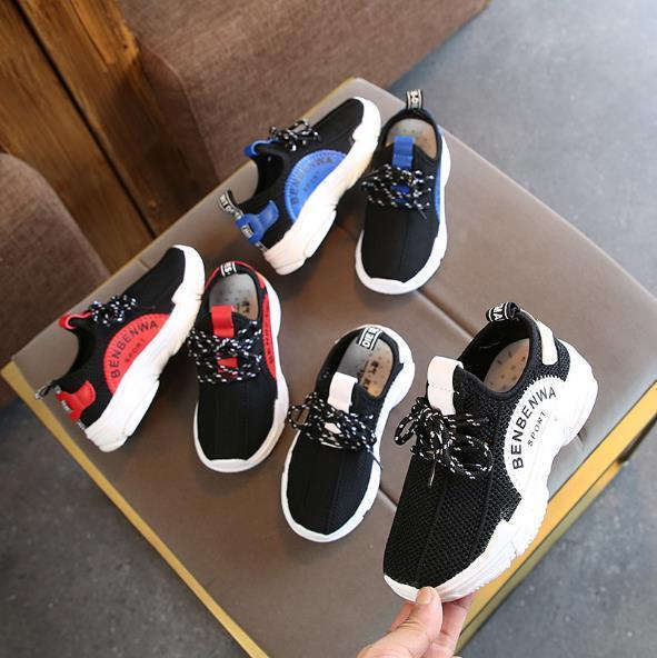 Best-selling new children's fashion sports girl breathable mesh cloth casual shoes boy running shoes 26-36cm