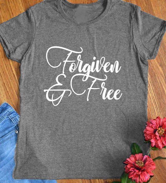 Das T-Stück der Frauen verziehen und freies christliches T-Shirt Hipster-Damen-religiöses Geschenk-Hemd-Slogan christlicher Feiertags-Schmutz übersteigt Weinlese-Kleidung