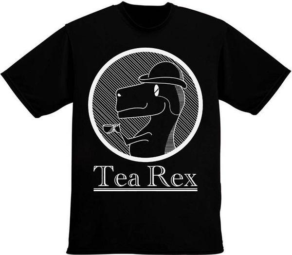Komik Giyim Casual T Shirt Çay Rex İçme Kısa Kadın Mürettebat Boyun Best Friend Gömlek