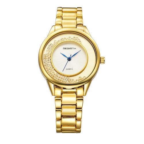 REBIRTH RE068 Luxury Brand Quartz Watch Women Stainless Steel Bracelet Watches Ladies Dress Crystal Wristwatch Gift