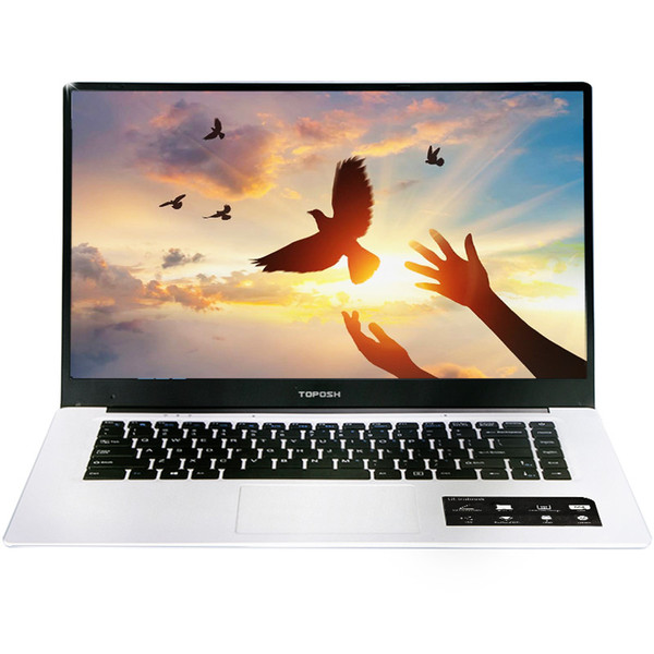top popular 15.6 inch Intel Quad Core 4GB DDR3 64GB 128GB 256GB SSD Option 1366*768P IPS Screen Windows 10 Ultrabook Laptop Notebook Compute 2019