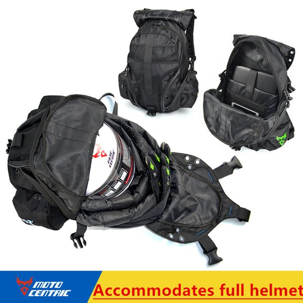 Multifunction luggage motorcycle reflective label bag waterproof motorcycle backpack helmet bag racing off road bolsa motocicleta zaino moto