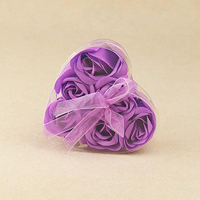6pcs purple flower