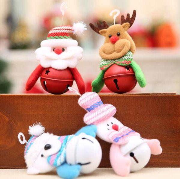 Christmas decorations jingle bells Christmas tree bell ornaments Santa Claus natal bell snowman doll Christmas bauble supplies