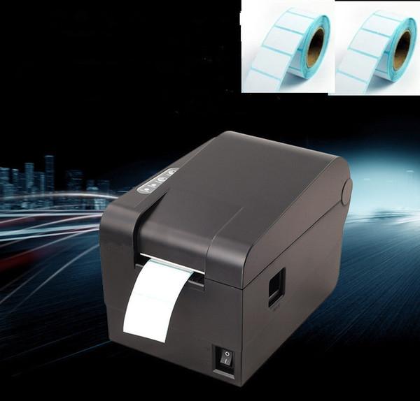 2016 nouvelle haute qualité 2Roll Label papier + imprimantes d'étiquettes code à barres Imprimante thermique de vêtements support largeur d'impression 58mm