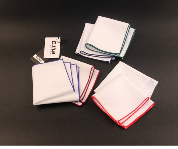 White Series Suit Pocket Cravat Scarf Handkerchiefs Cotton Pocket Square Hankies Men Business Square Pockets Hanky Women Handkerchief Ties