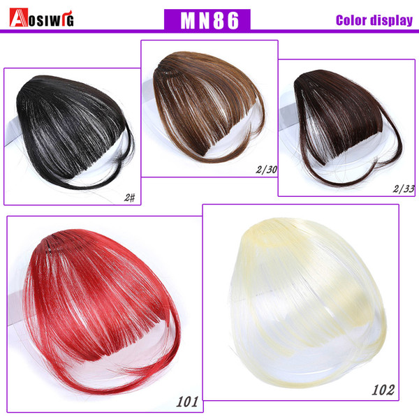 top popular 2018 High Quality Short Synthetic Bangs Synthetic Hairpieces Hair Women Natural Short Fake Hair Bangs Heat Resistant 2019