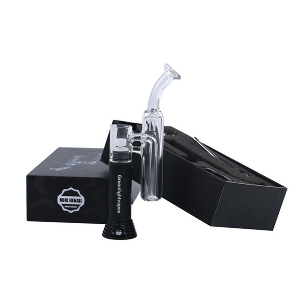best selling wax vapor portable oil rig dab vaporizer mini henail g9 greenlightvapes enail d nail with water bong For wax concentrate oil