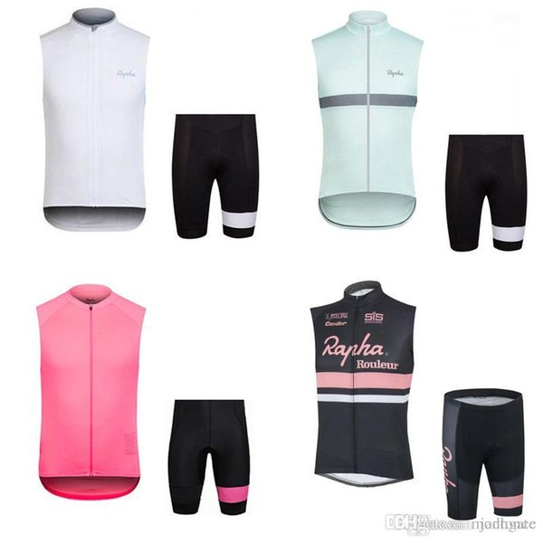 HOT Selling RAPHA team Cycling Sleeveless jersey Vest shorts sets Quick-Dry summer outdoor mountain bike sportwear F52105