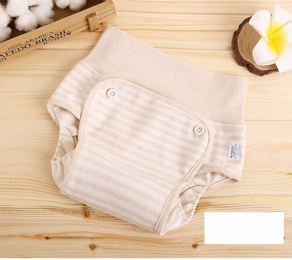 Bebé algodón impermeable bolsillo de orina bebé transpirable cintura alta pantalones de pañales lavables