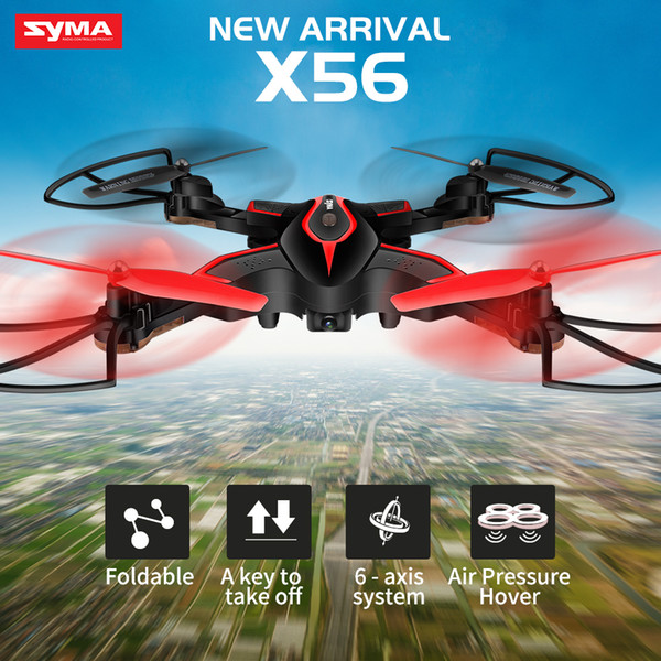 SYMA X56 Foldable Drone 2.4G 4CH 6-axis RC Helicopter Quadrocopter Dron without Camera Remote Control Quadcopter RC Toy Gift