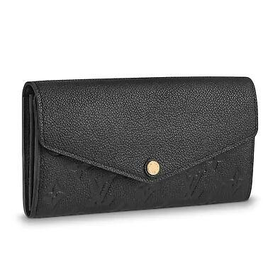 2019 M61182 SARAH WALLET Embossing black Real Caviar Lambskin Chain Flap Bag LONG CHAIN WALLETS KEY CARD HOLDERS PURSE CLUTCHES EVENING
