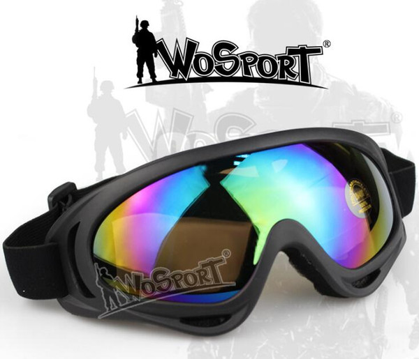 Hot sell Top 5pcs/lot WoSporT direct manufacturers of outdoor riding climbing ski goggles essential tactical colorful anti glare goggles