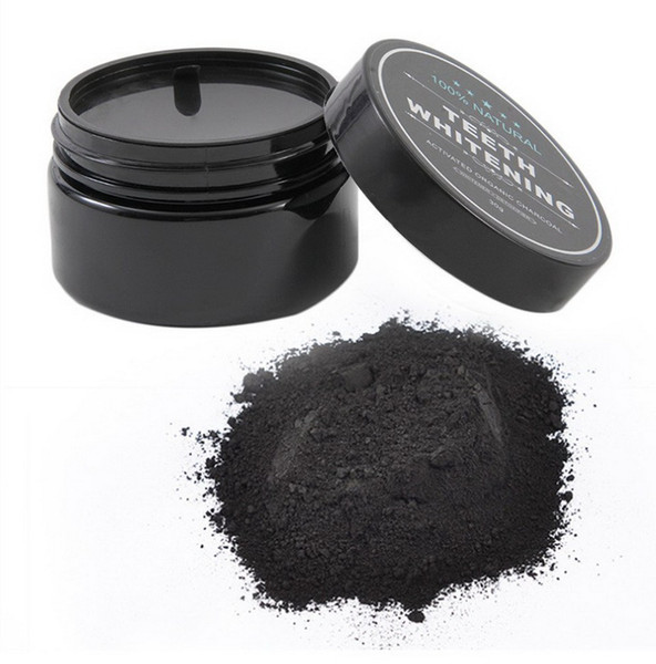 new single box teeth cleaning/whitening power activated organic charcoal powder beautiful smile teeth tooth whitening black loose powder 30g