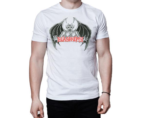 Blasphemy Ross Bay Cult Eternal Logo White T-Shirt Cool O-Neck Tops Quality Print New Summer Style Cotton Top Tee T Shirt
