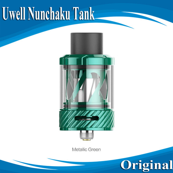 100% Authentic Uwell Nunchaku Tank Atomizer with 5ml e-Juice Capacity Plug-Pull Coils Separate Condensation Holder E Cig DHL Free