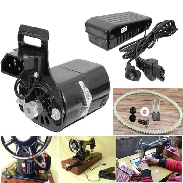 New Black Domestic Household Sewing Machine Electric Motor 220V AC 180W 0.9A 10000 rpm + Low Noise Speed Pedal Controller Mayitr