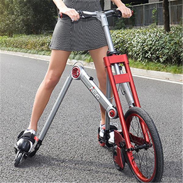 Nueva marca de 3ª generación de 3 ruedas de patinaje de la bicicleta mantis coche creativo bicicleta adultos amortiguador scooter plegable bicicleta