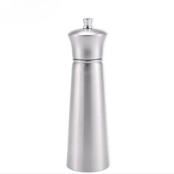 best selling 304 Stainless Steel Pepper Grinder Salt Mill Grinder Kitchen Gadgets Seasoning Cooking Tools Free Shipping QW7241