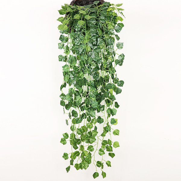Hanging Vine Green Wall Fake Leaf Home Garland Decoration Plant 90cm (35 inch length) 5 style for choose