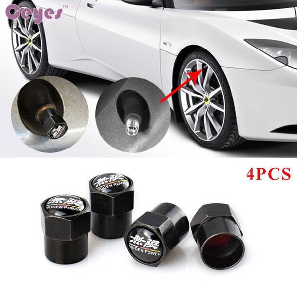 Adesivos de carro auto válvulas de pneus para Honda Civic Mugen Poder Badge pneu da roda tampas de ar do carro styling 4 pçs / lote
