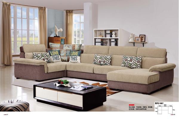 Wunderbar Modernes Wohnzimmer Stoff Sofa U Form Abschnitt Anti Bakteriellen Stoff  Komfortabel Weichen Stoff Sofa