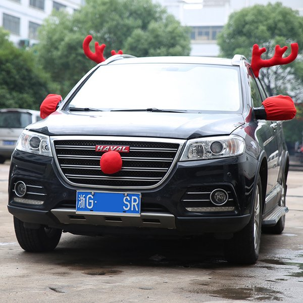 Hot Selling Newest 2018 Christmas Car Decorations Big Antlers Christmas Decorations Car Decoration Antlers