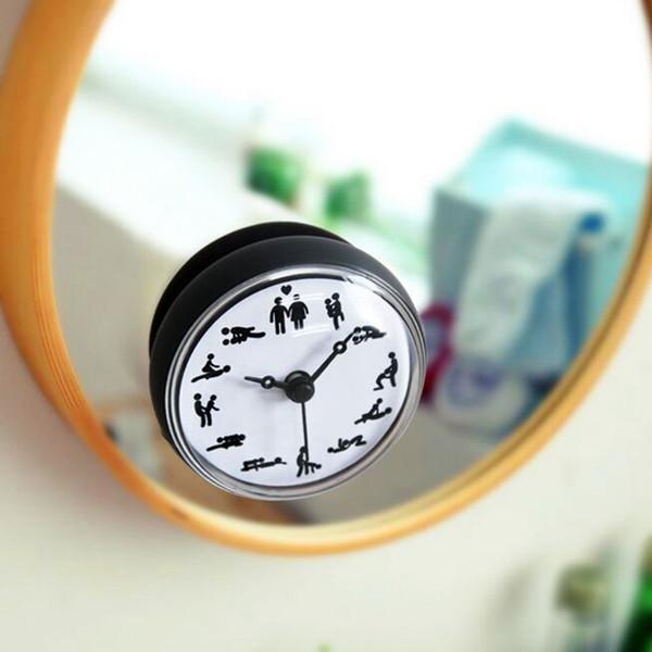 Acheter Salle De Bains Cuisine Étanche Douche Mur Mini Horloge Montre  Aspiration Tasse À Piles Salon Moderne Design De Mode De $33.91 Du Greenliv  | ...