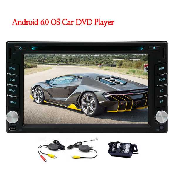 Wireless Backup Camera+EinCar Android 6.0 OS Car DVD Player 6.2'' HD Touchscreen Car Stereo In Dash GPS Navigation Car Entertainment System