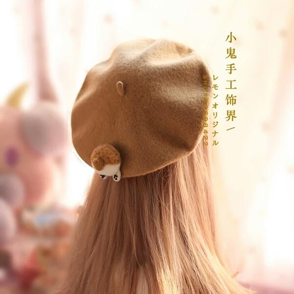 fbc955061 2019 Soft Adorable Japanese Beret Corgi Ass Beret Cat PP Cap Hat Cute  Winter Hat Painter Clay Oven Rolls Children From Lain123456, $9.15 |  DHgate.Com