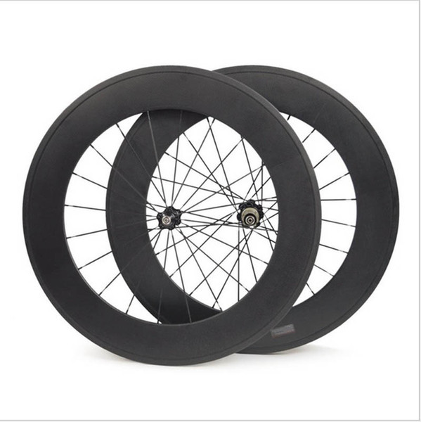 88mm Full Carbon Bicycle Wheels Front or Rear 700C Road Bike Wheels Light Weight 3K Glossy Tubular Surface Novatec Hub