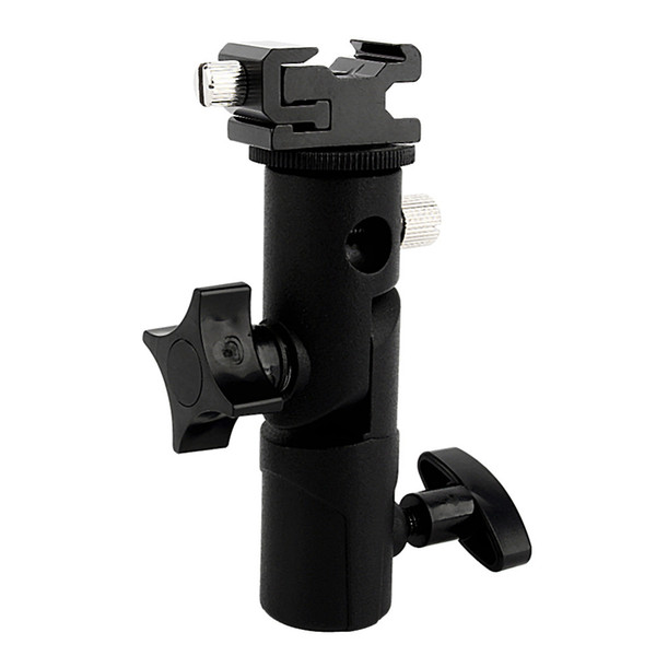 Freeshipping Adjustable Umbrella Speedlite Hot Shoe Flash Holder Bracket For Tripod For DSLR Camera